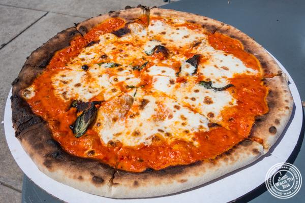 Vodka sauce pizza at Pier 13 in Hoboken, NJ