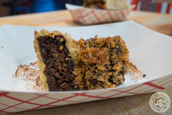 Panko crusted brownie at IWF - International Wings Factory on the Upper East Side