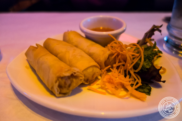 Spring rolls at Yum Yum BangKok, Thai Restaurant in Hell's Kitchen