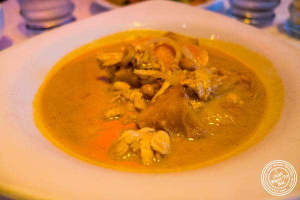 Chicken Massaman at Yum Yum BangKok, Thai Restaurant in Hell's Kitchen