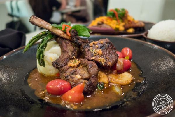 Roasted rack of lamb at Bangkok Cuisine Upper East Side, NYC