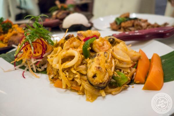 Seafood Tom Yum pad Thai at Bangkok Cuisine Upper East Side, NYC
