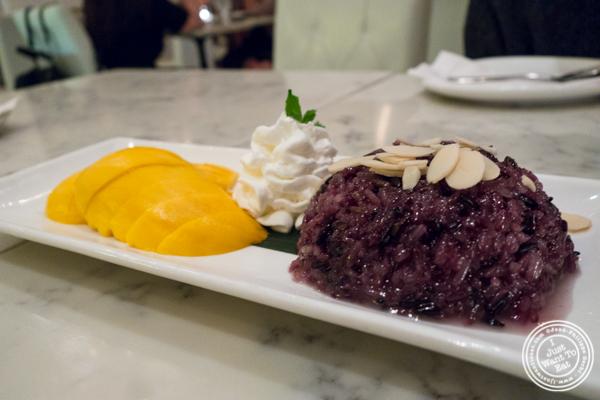 Mango sticky rice at Bangkok Cuisine Upper East Side, NYC