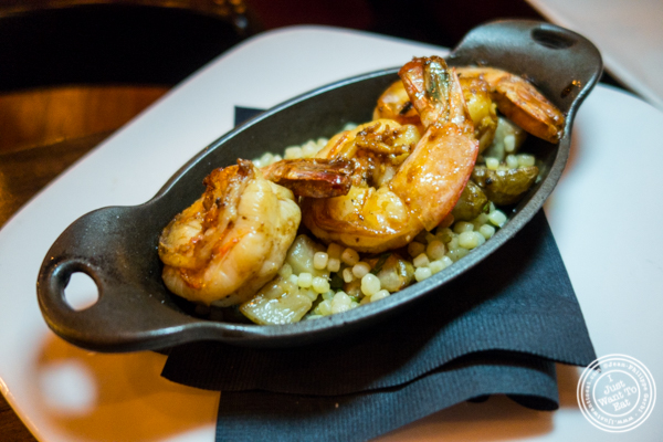 Grilled citrus shrimp at The Gilroy on the Upper East Side, NYC, New York