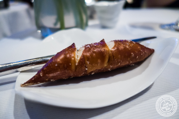 Pretzel bread at Jean-Georges in NYC, New York