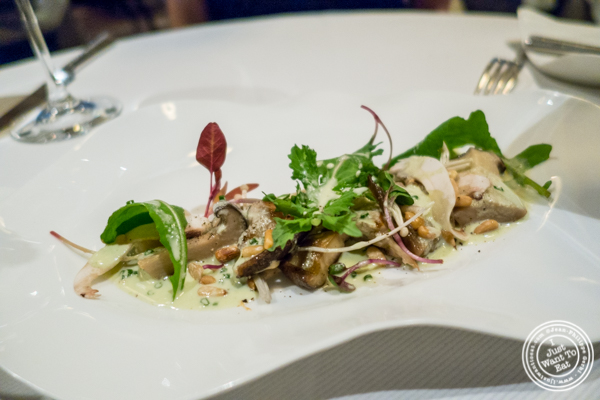 Market mushroom salad at Jean-Georges in NYC, New York