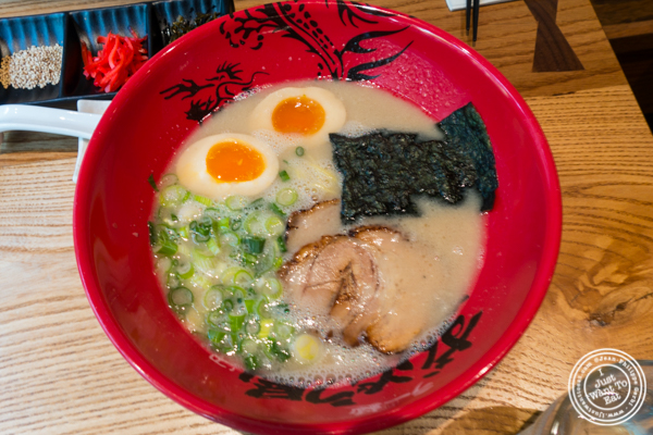 Ajitama ramen at Ramen Zundo-Ya in NYC, New York