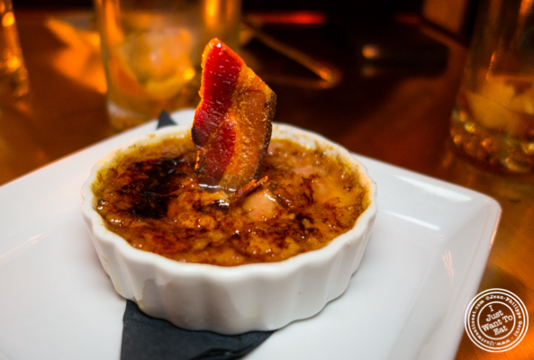 Foie gras creme brûlée at Swine in NYC, New York