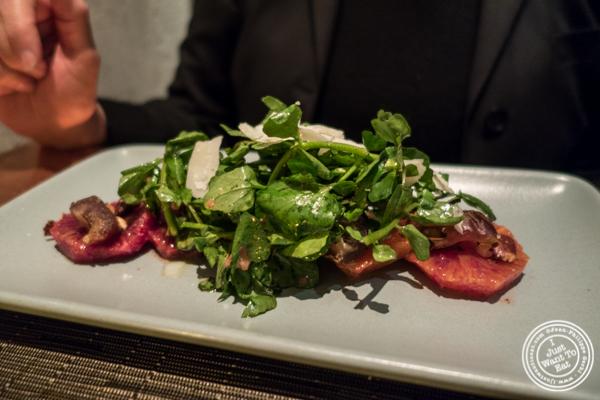 Blood orange salad at Print Restaurant in the Ink48 Hotel, NYC
