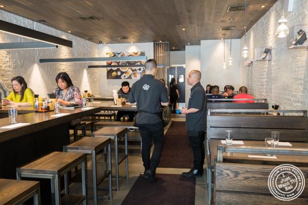 Dining room at Momosan Ramen and Sake in NYC, New York