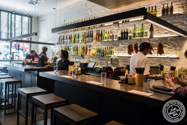 Counter at Momosan Ramen and Sake in NYC, New York