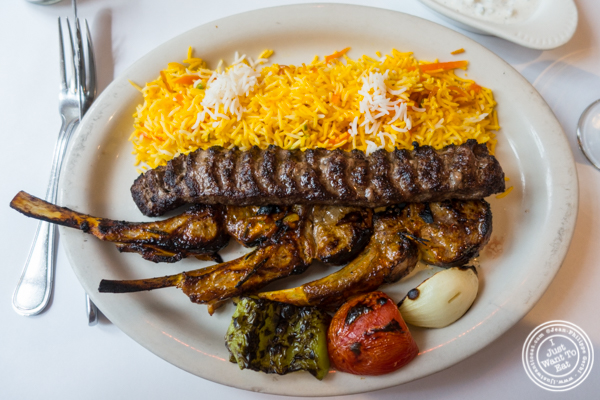 Mixed grill at Pars Grill House and Bar in NYC, New York