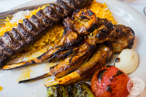Lamb chops at Pars Grill House and Bar in NYC, New York