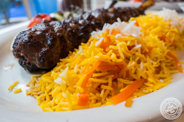 Shirin polo at Pars Grill House and Bar in NYC, New York