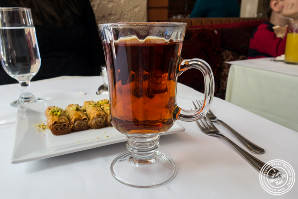 Persian tea at Pars Grill House and Bar in NYC, New York