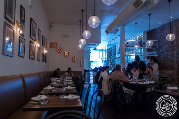 Dining room at Gran Morsi, Italian restaurant in TriBeCa, NYC