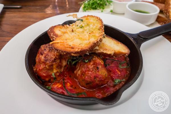 Meatballs at Gran Morsi, Italian restaurant in TriBeCa, NYC