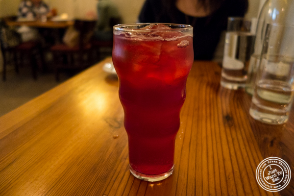 Blueberry soda at Russet in Philadelphia, PA