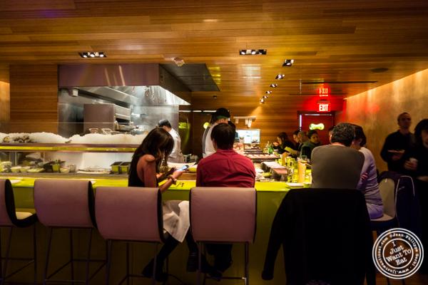 Sushi bar at The original Morimoto in Philadelphia, PA