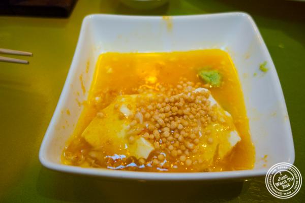 Freshly made tofu with crab ankake at The original Morimoto in Philadelphia, PA