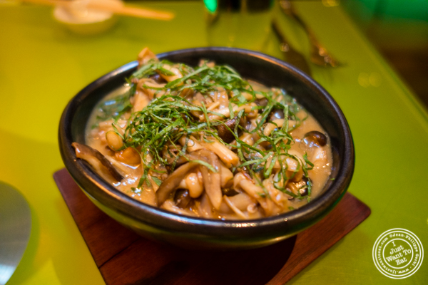 Sake butter Japanese mushrooms at The original Morimoto in Philadelphia, PA