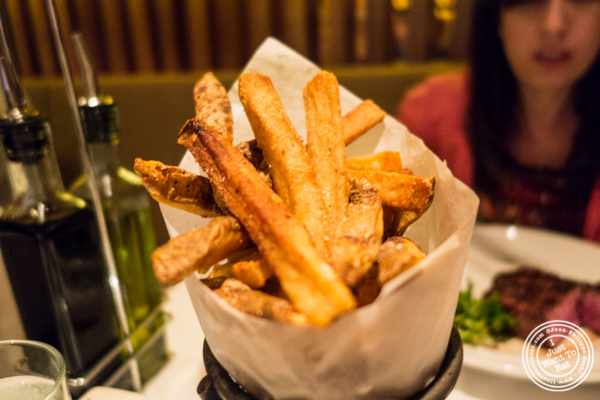 French fries at Reserve Cut at The Setai in the Financial District, NY