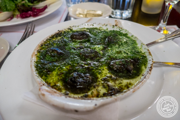 Escargots de Bourgogne at Cafe 123 in Times Square, NYC