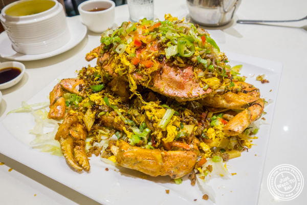 Fried dungeness crab at Bite of Hong Kong in Chinatown, NYC