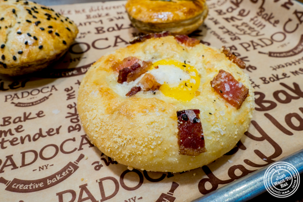 Egg and bacon brioche at Padoca on the Upper East Side, NYC