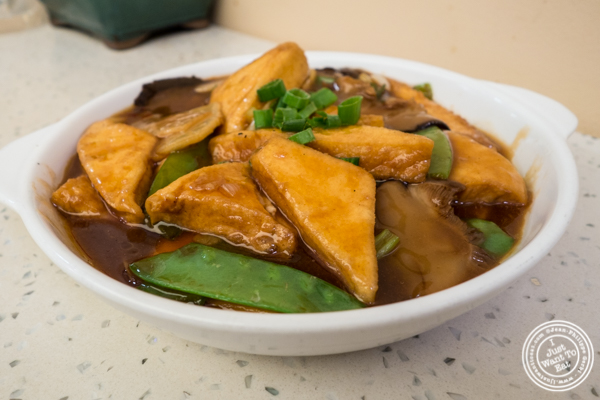 Braised tofu at Flaming Kitchen in Chinatown, NYC