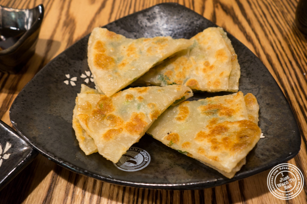 Scallion pancakes at KungFu Kitchen in Times Square, NYC