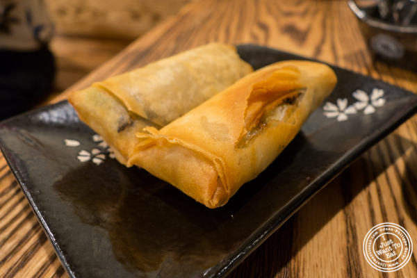 Vegetable spring rolls at KungFu Kitchen in Times Square, NYC