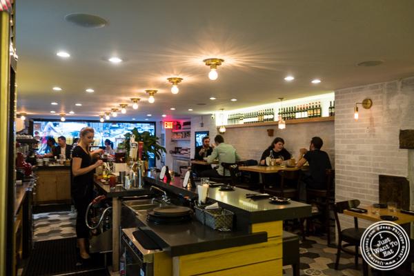 Bar area at Al Vicoletto near Union Square, NYC