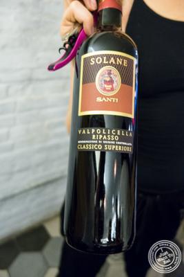 Santi 'Solane' Valpolicella Classico Superiore Ripasso, Veneto, Italy at Al Vicoletto near Union Square, NYC