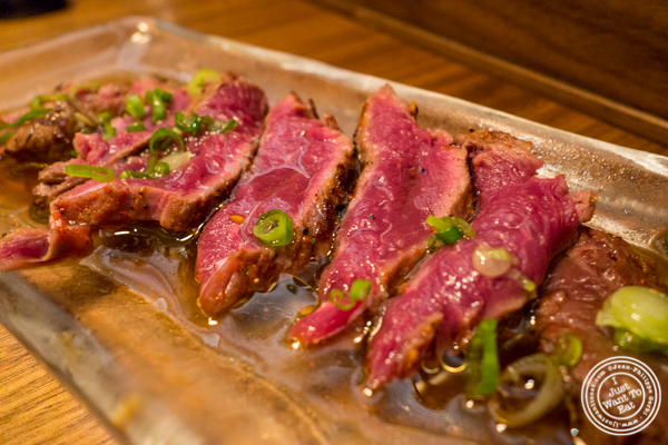 Filet mignon tataki at Natsumi Tapas in NYC, NY