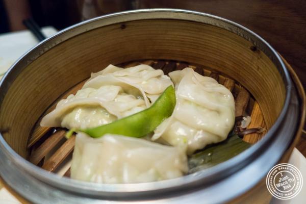 Edamame dumplings at Natsumi Tapas in NYC, NY