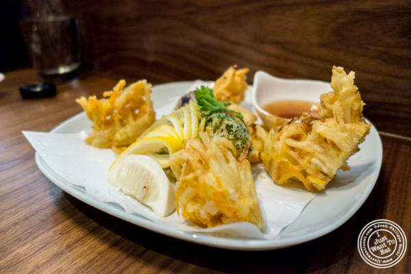 Vegetable tempura at Natsumi Tapas in NYC, NY