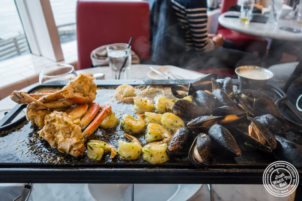 Seafood skillet at The Franciscan Crab Restaurant in San Francisco, California