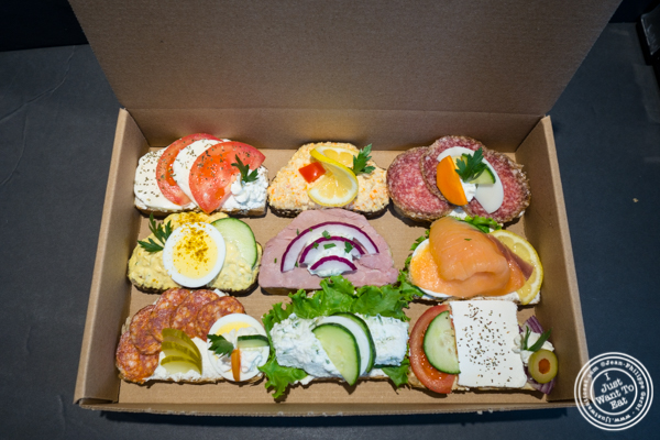 Box of Sandwich at Duran Sandwiches in NYC, NY