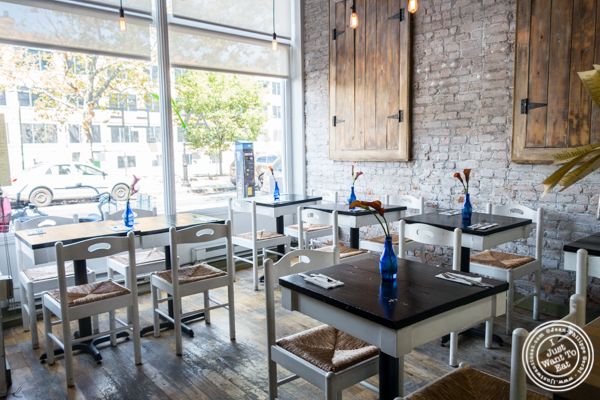 Dining room at Avlee Greek Kitchen in Brooklyn, NY