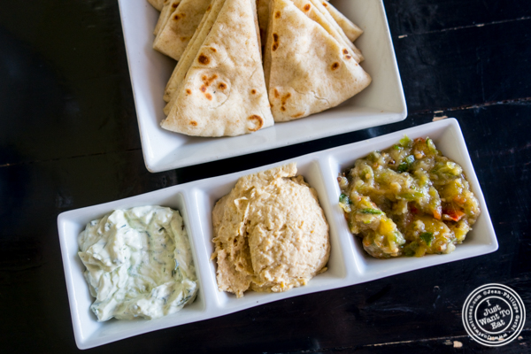 Spread sampler at Avlee Greek Kitchen in Brooklyn, NY