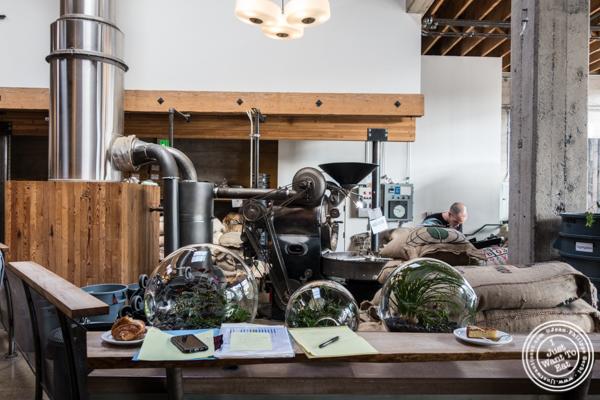 Roasting machine at Sightglass Coffee in San Francisco, CA