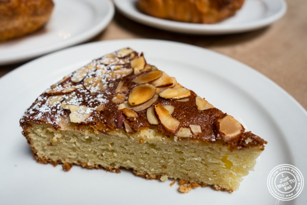 Flourless almond cake at Sightglass Coffee in San Francisco, CA