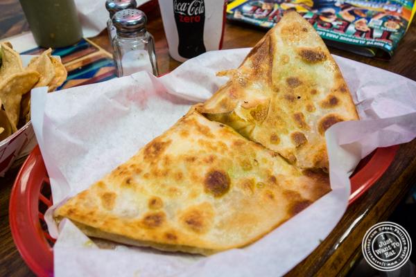 Vegetarian quesadilla at La Taqueria in San Francisco, CA