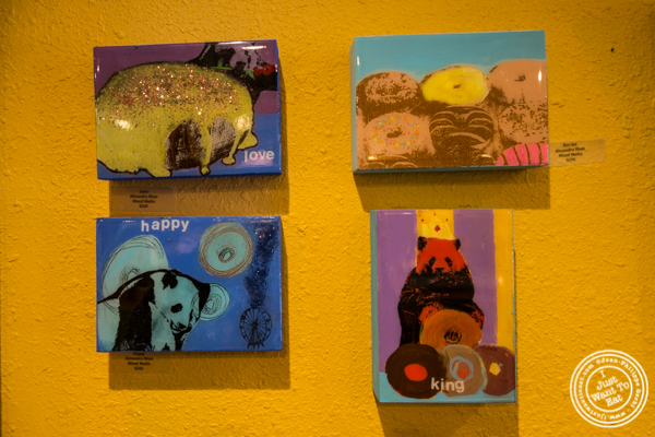 Paintings from Alexandra Blum at Dynamo Donut + Coffee in San Francisco, CA