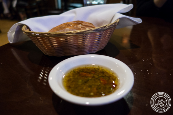Bread and olive oil at SOMA in South Market, San Francisco, CA