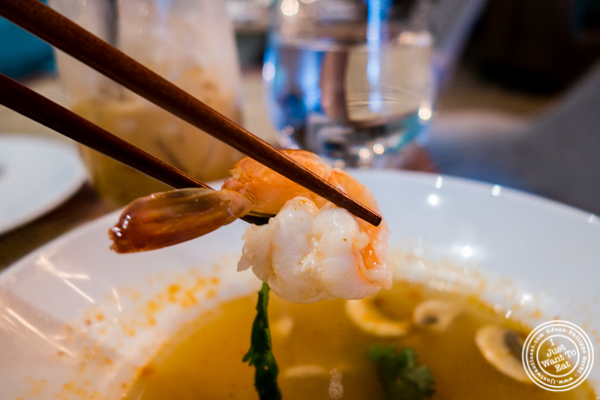 Tom Yum Kung: spicy shrimp at Samui in Fort Greene, Brooklyn