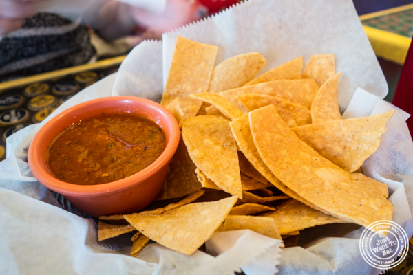 Tortilla chips and salsa at El Centro in Hell's Kitchen, NYC