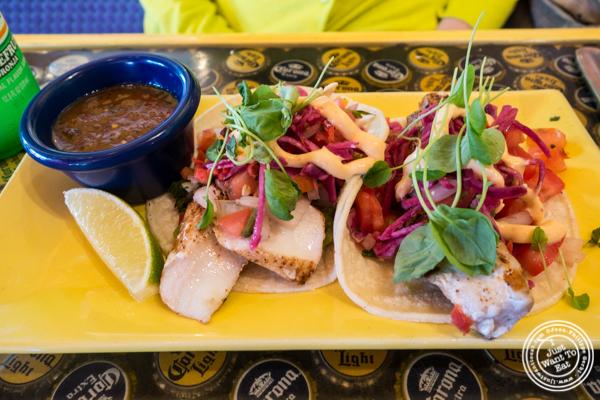 Mahi Mahi tacos at El Centro in Hell's Kitchen, NYC