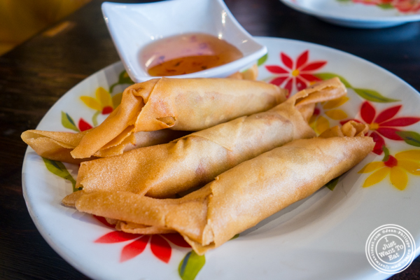Crispy spring rolls at Esanation, Thai restaurant in Hell's Kitchen, NYC